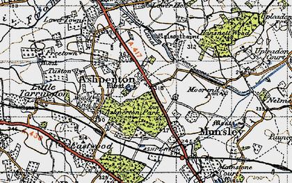 Old map of Ashperton in 1947