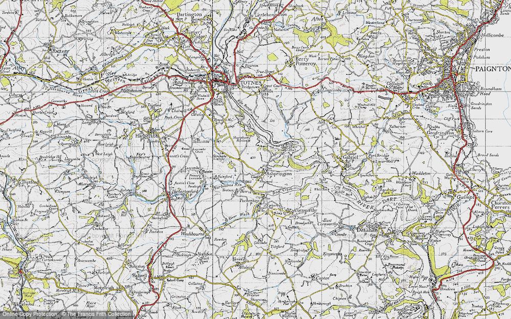 Old Map of Ashprington, 1946 in 1946