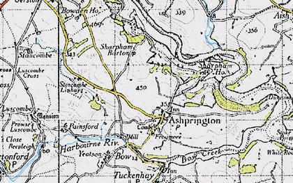 Old map of Ashprington in 1946