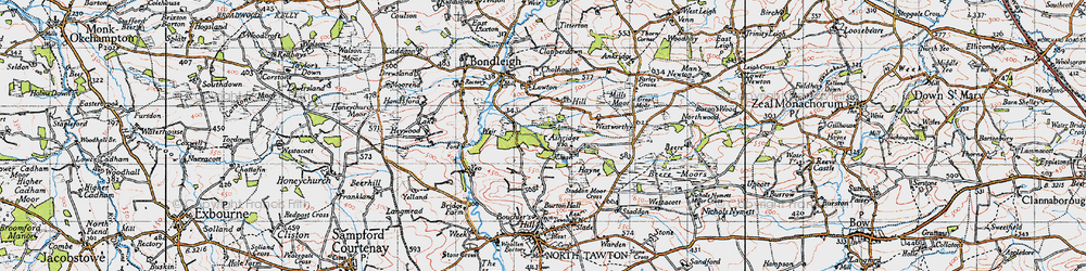 Old map of Westworthy in 1946