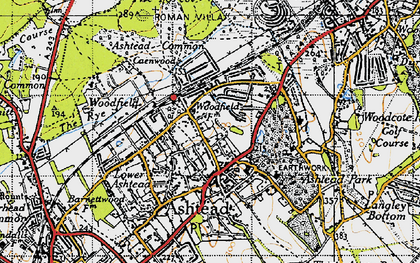 Old map of Ashtead Park in 1945