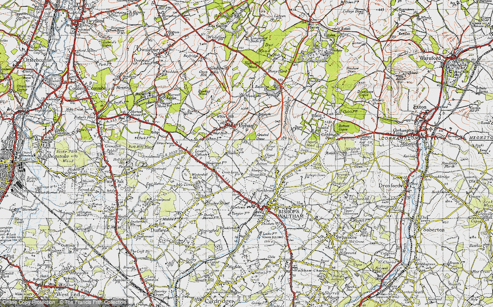 Old Map of Ashton, 1945 in 1945