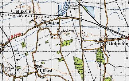 Old map of Ashton in 1946