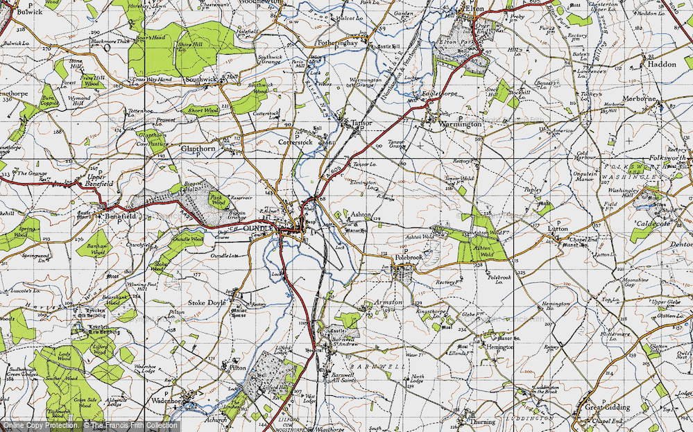 Old Map of Ashton, 1946 in 1946