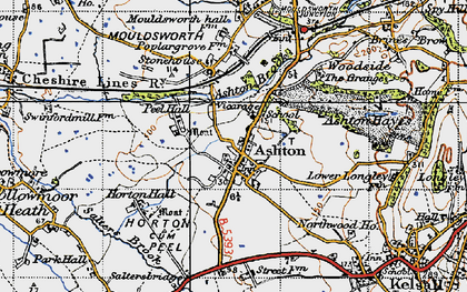 Old map of Ashton in 1947