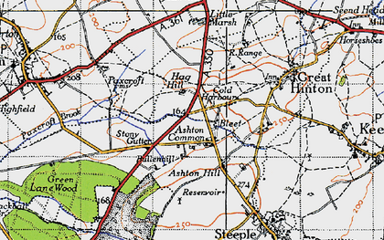 Old map of Ashton Common in 1940