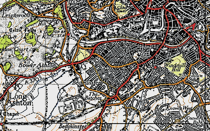 Old map of Ashton Gate in 1946