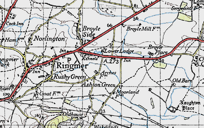Old map of Ashton Green in 1940