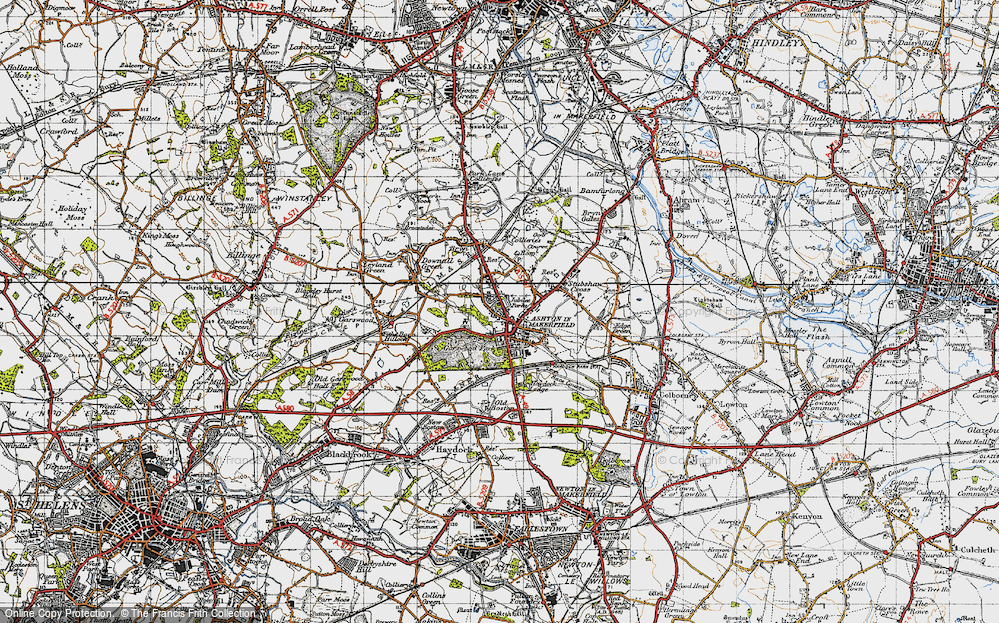 Old Map of Ashton-in-Makerfield, 1947 in 1947