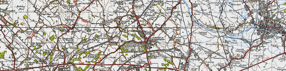Old map of Ashton-in-Makerfield in 1947