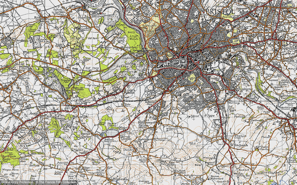 Old Map of Ashton Vale, 1946 in 1946