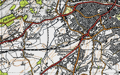 Old map of Ashton Vale in 1946