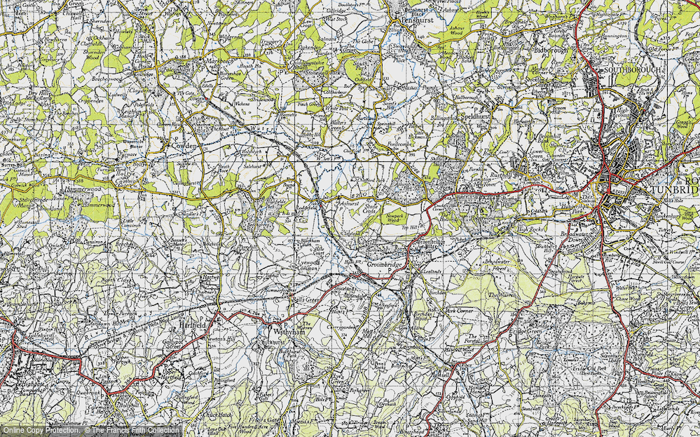 Old Map of Ashurst, 1946 in 1946