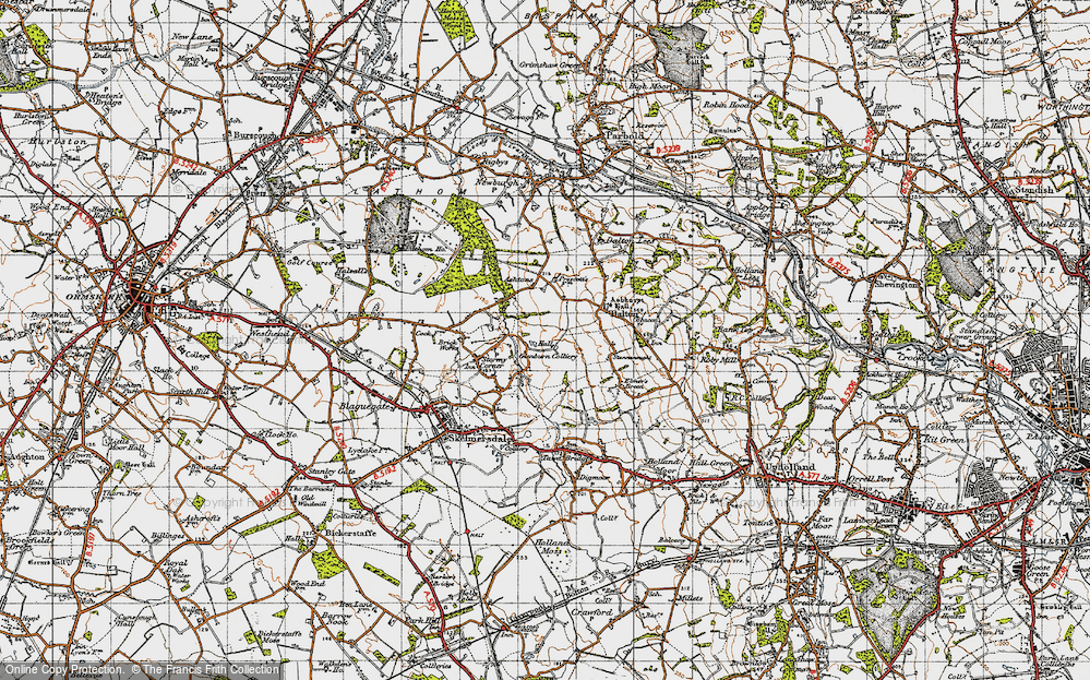 Old Map of Ashurst, 1947 in 1947