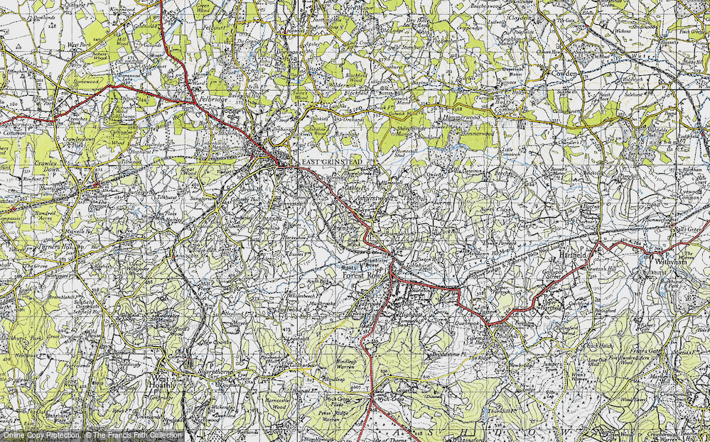Old Map of Ashurst Wood, 1946 in 1946