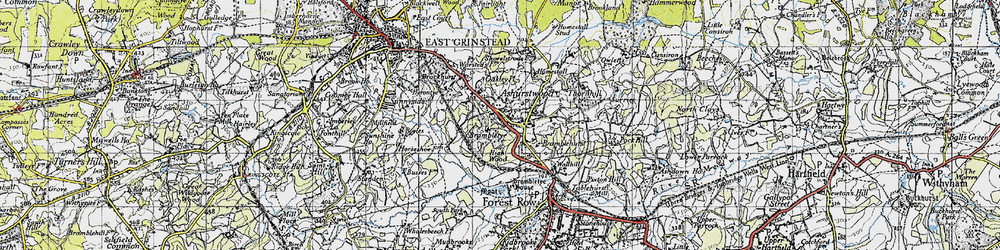 Old map of Ashurst Wood in 1946