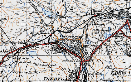 Old map of Ashvale in 1947