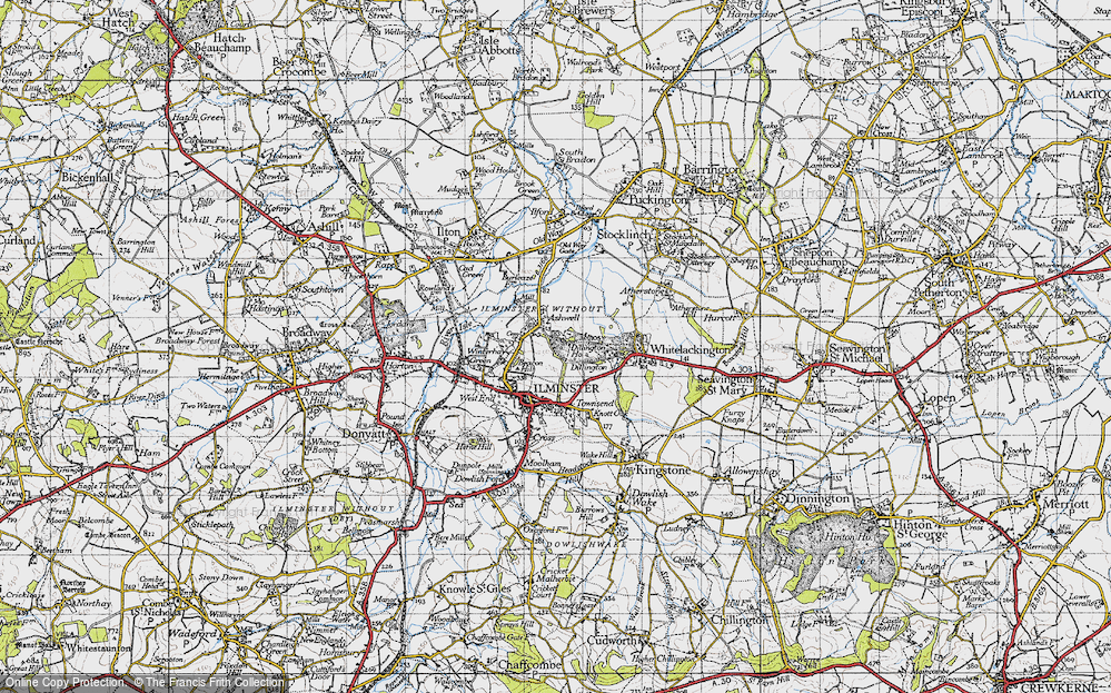 Old Map of Ashwell, 1945 in 1945