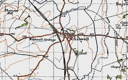 Old map of Ashwell Court in 1946