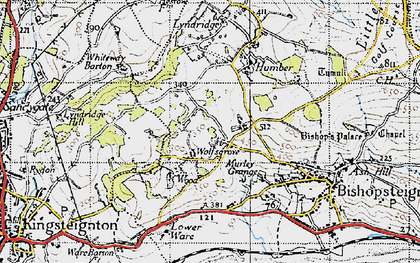 Old map of Wolfsgrove in 1946