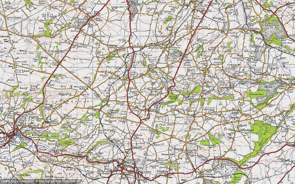 Old Map of Ashwick, 1946 in 1946