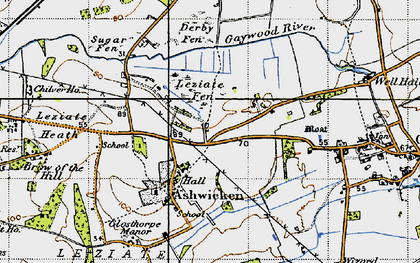 Old map of Ashwicken in 1946