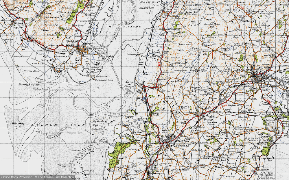 Old Map of Askam in Furness, 1947 in 1947