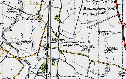 Old map of Askerton Hill in 1946