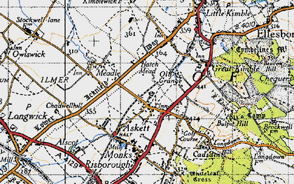 Old map of Askett in 1947