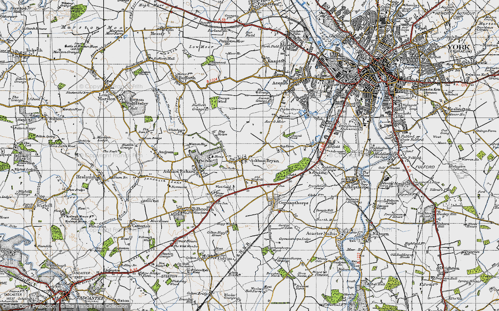 Old Map of Askham Bryan, 1947 in 1947