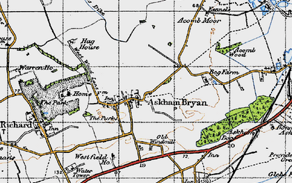 Old map of Askham Bryan in 1947