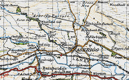 Old map of Askrigg in 1947
