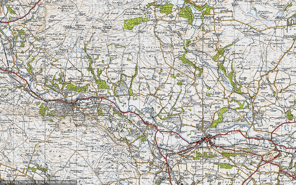 Old Map of Askwith, 1947 in 1947