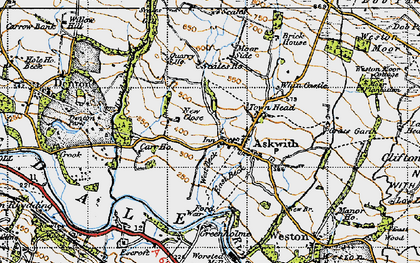 Old map of Askwith in 1947