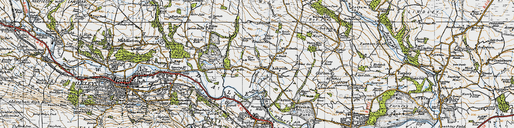 Old map of Whitbeck Manor in 1947