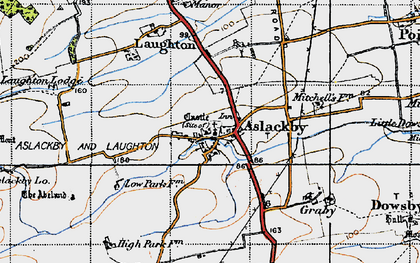 Old map of Aslackby in 1946