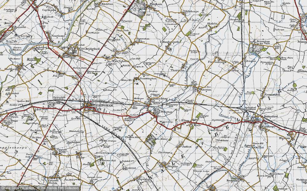 Old Map of Aslockton, 1946 in 1946