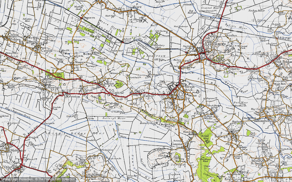 Old Map of Asney, 1946 in 1946