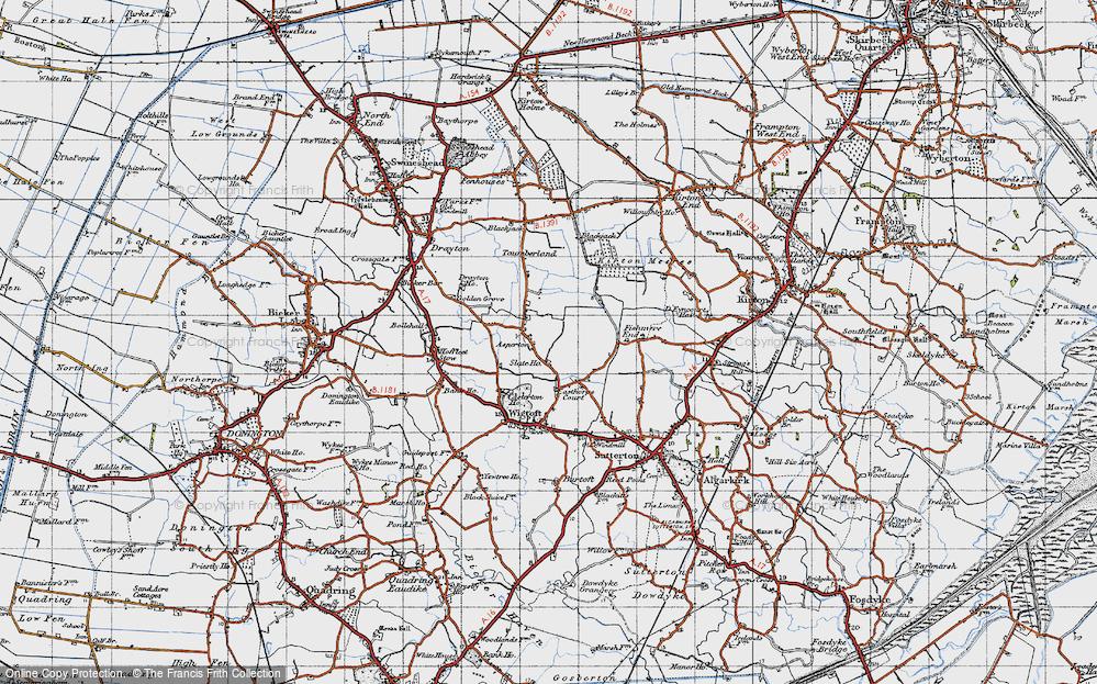 Old Map of Asperton, 1946 in 1946