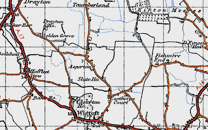 Old map of Asperton in 1946