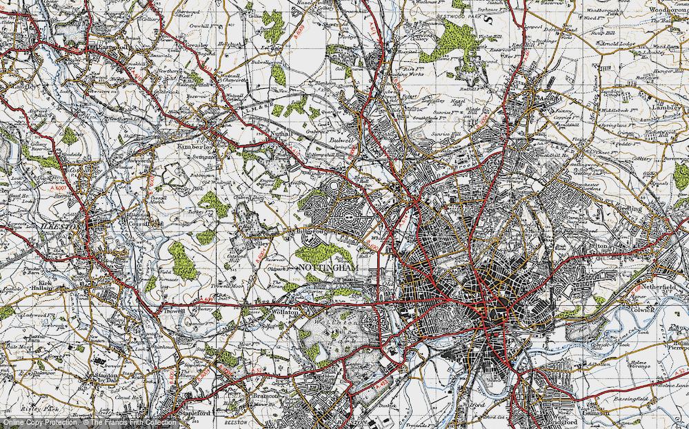 Old Map of Aspley, 1946 in 1946