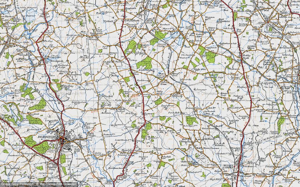 Old Map of Aspley Heath, 1947 in 1947