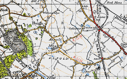 Old map of Aspull in 1947