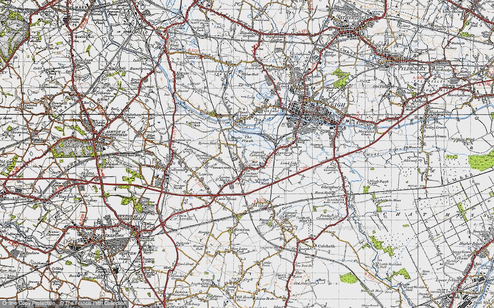 Old Map of Aspull Common, 1947 in 1947