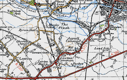 Old map of Aspull Common in 1947