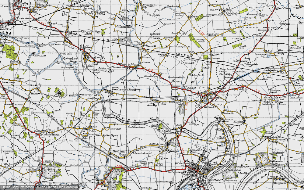 Old Map of Asselby, 1947 in 1947