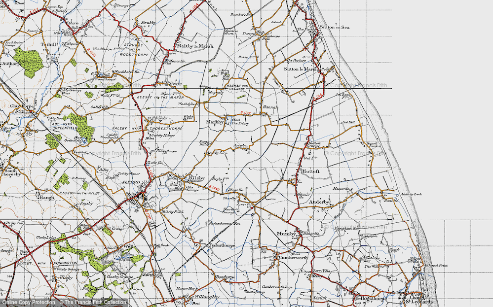 Old Map of Asserby, 1946 in 1946