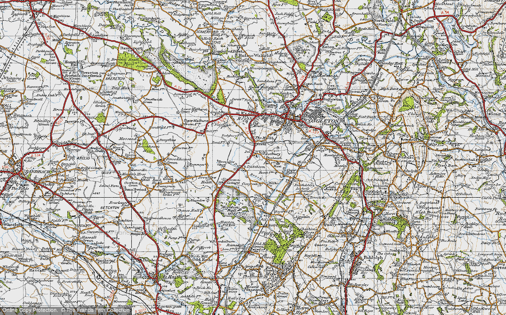 Old Map of Astbury, 1947 in 1947
