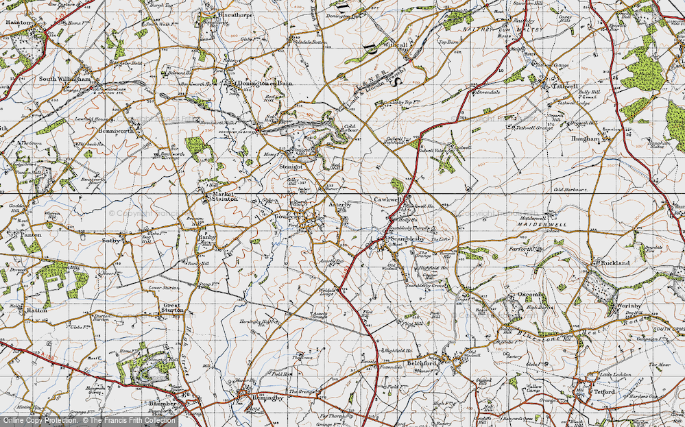 Old Map of Asterby, 1946 in 1946