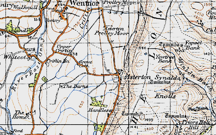 Old map of Asterton in 1947
